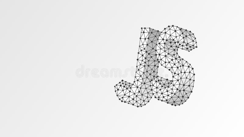 Texto da língua de codificação de Java Script Dispositivo, programando, conceito tornando-se Sum?rio, digital, wireframe, baixa m ilustração stock