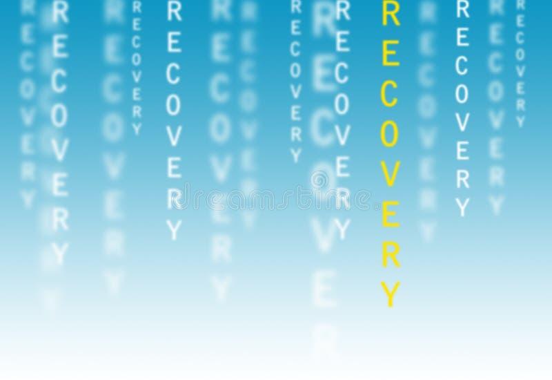 Texto da recuperação ilustração stock