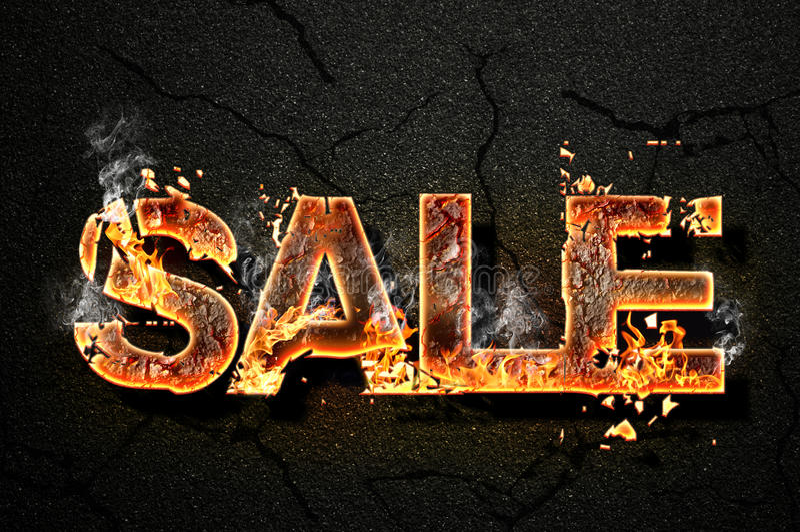Texto da venda fotografia de stock