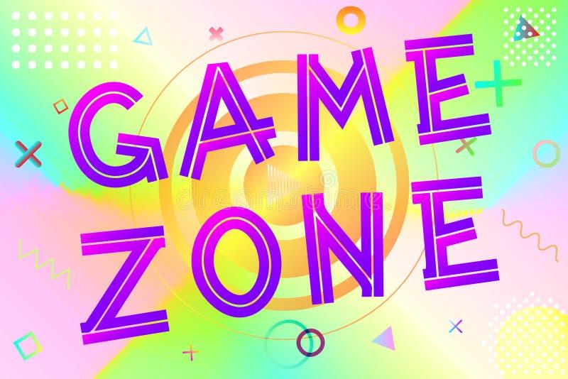 Texto da zona do jogo ilustração stock