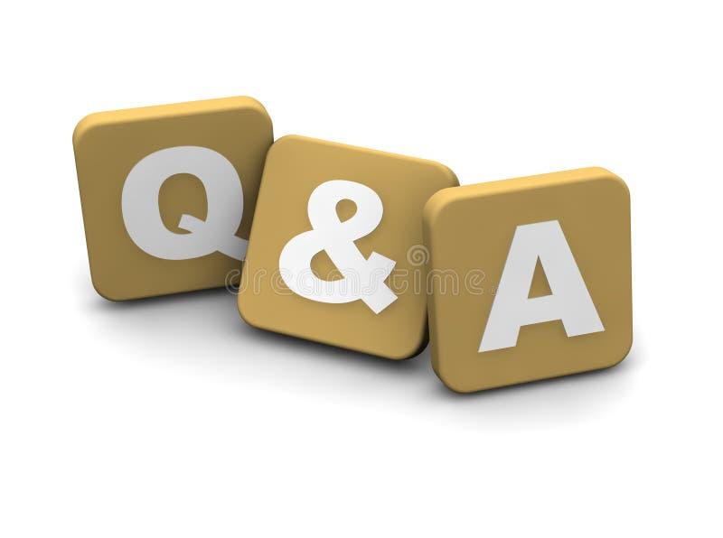 Texto das perguntas e das respostas ilustração royalty free