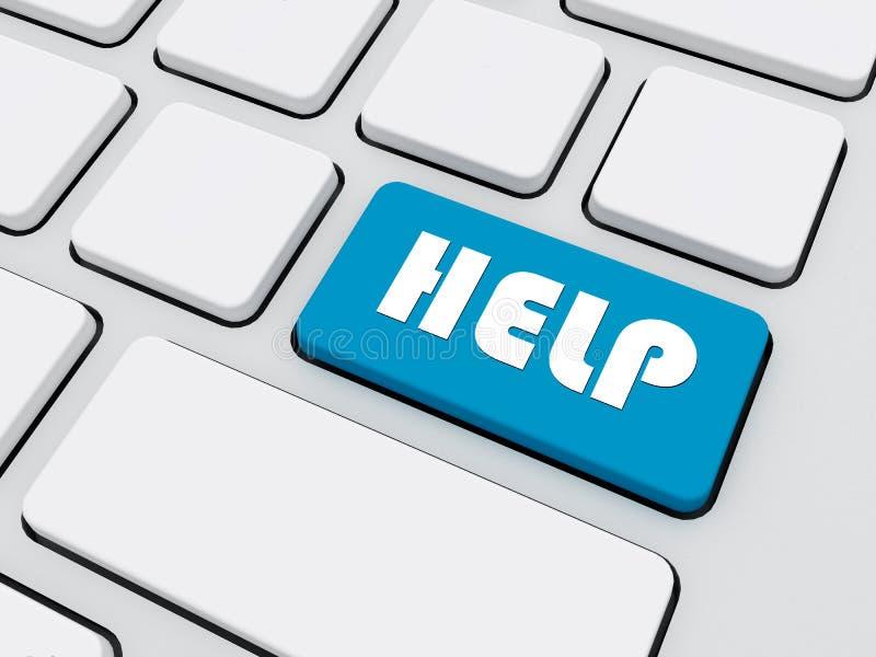 Texto de ajuda no teclado ilustração stock