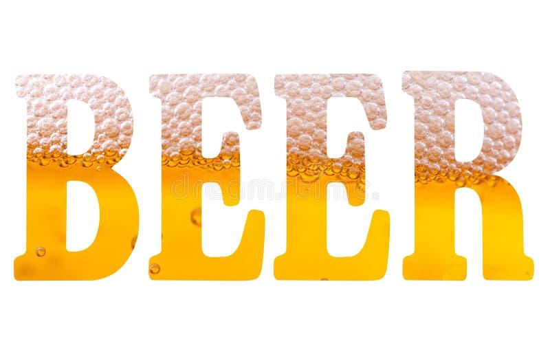 Texto de alta resolução com cerveja da palavra ilustração do vetor