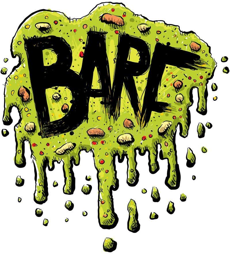 Texto de Barf ilustração do vetor