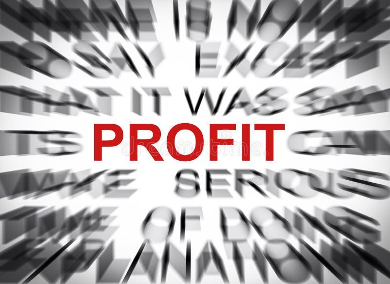 Texto de Blured com foco no LUCRO imagem de stock royalty free
