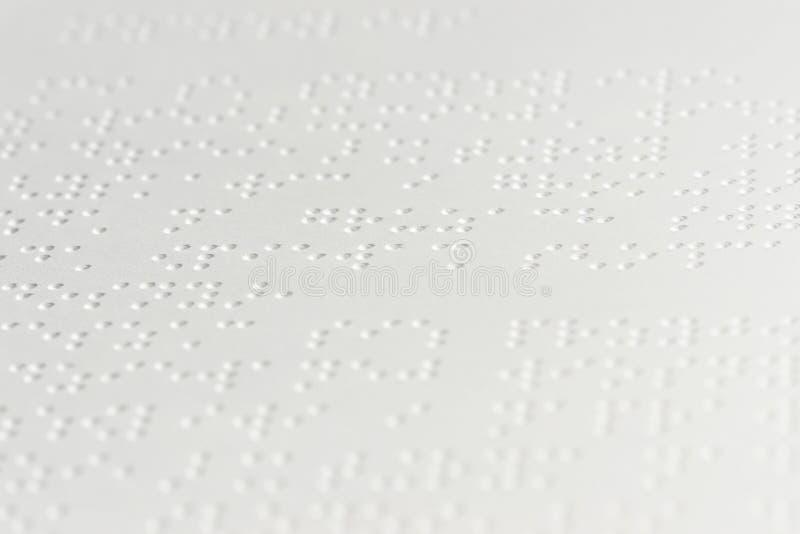Texto de Braille imagem de stock royalty free