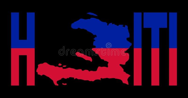 Texto de Haití con la correspondencia ilustración del vector