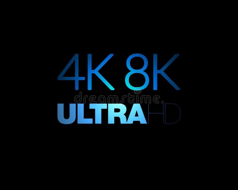 texto de 4K e de 8K ultra HD fotografia de stock royalty free