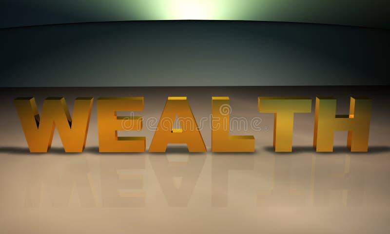 Texto de la abundancia 3D en oro libre illustration