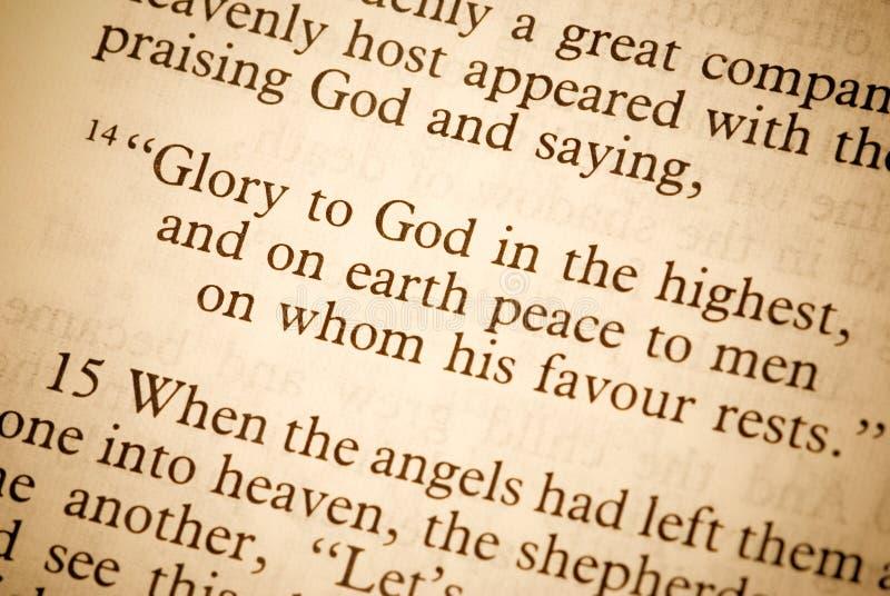 Texto de la biblia fotos de archivo