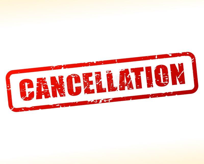 Texto de la cancelación protegido ilustración del vector