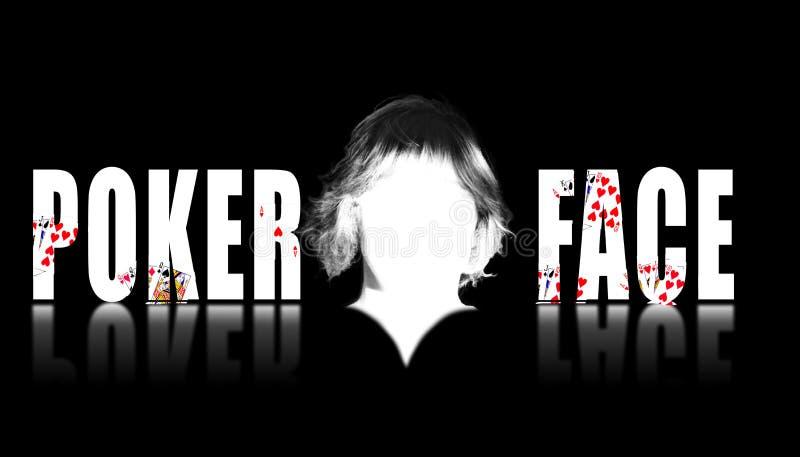 Texto de la cara de póker con una cara en blanco en el centro foto de archivo libre de regalías