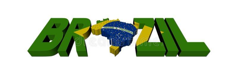 Texto de la correspondencia del Brasil con el indicador y la población stock de ilustración