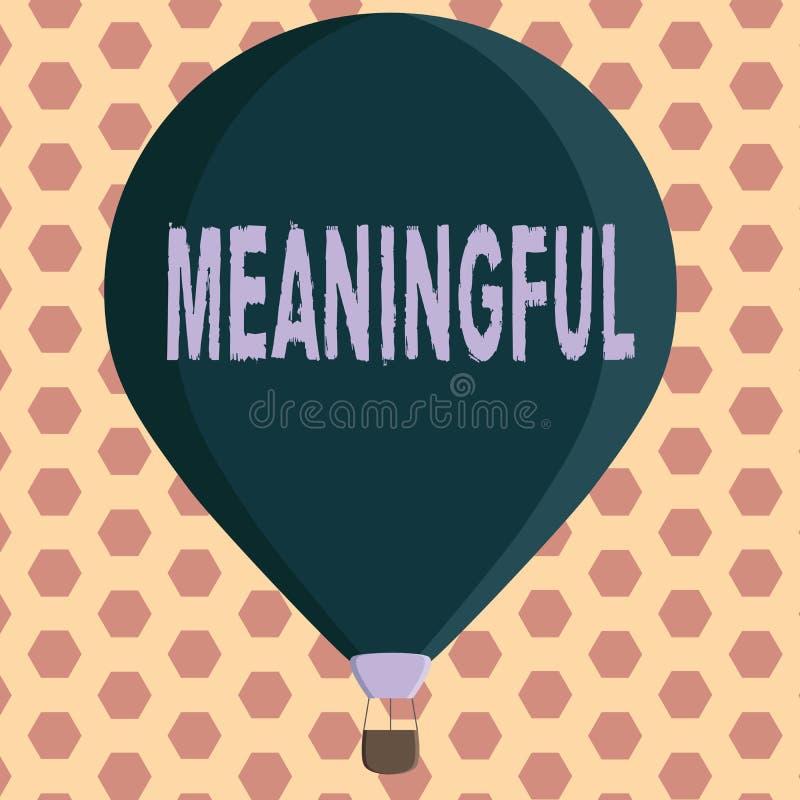 Texto de la escritura de la palabra significativo Concepto del negocio para tener significar útil importante relevante significat libre illustration