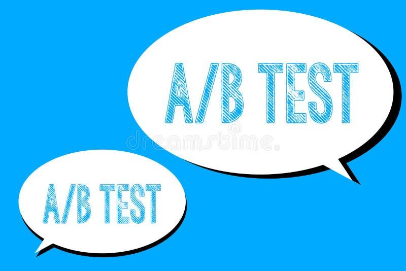 Texto de la escritura de la palabra un concepto del negocio de la prueba de B para la encuesta sobre corta simple la pregunta del stock de ilustración