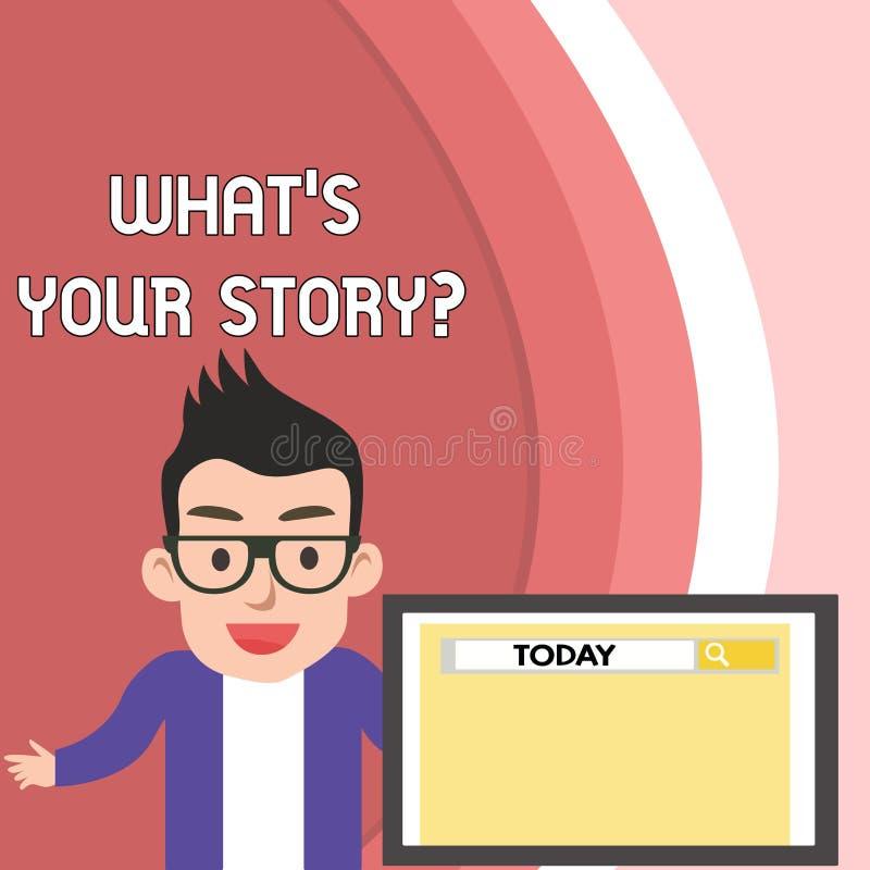 Texto de la escritura qu? s es su pregunta de la historia Concepto que significa el analysisner de preguntar que demuestra por úl libre illustration