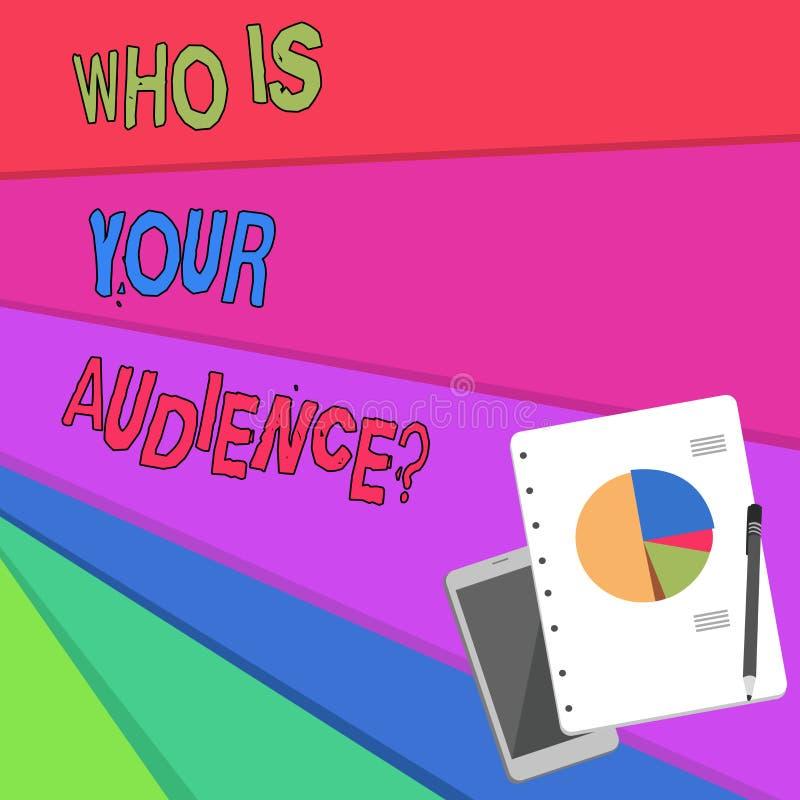 Texto de la escritura que es su pregunta de la audiencia Significado del concepto que es de observación o que escucha él ilustración del vector