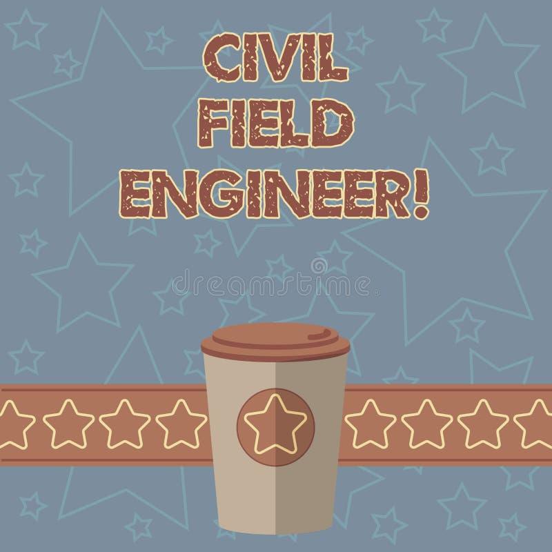 Texto de la escritura que escribe al técnico de mantenimiento civil El significado del concepto supervisa la construcción y el ma libre illustration