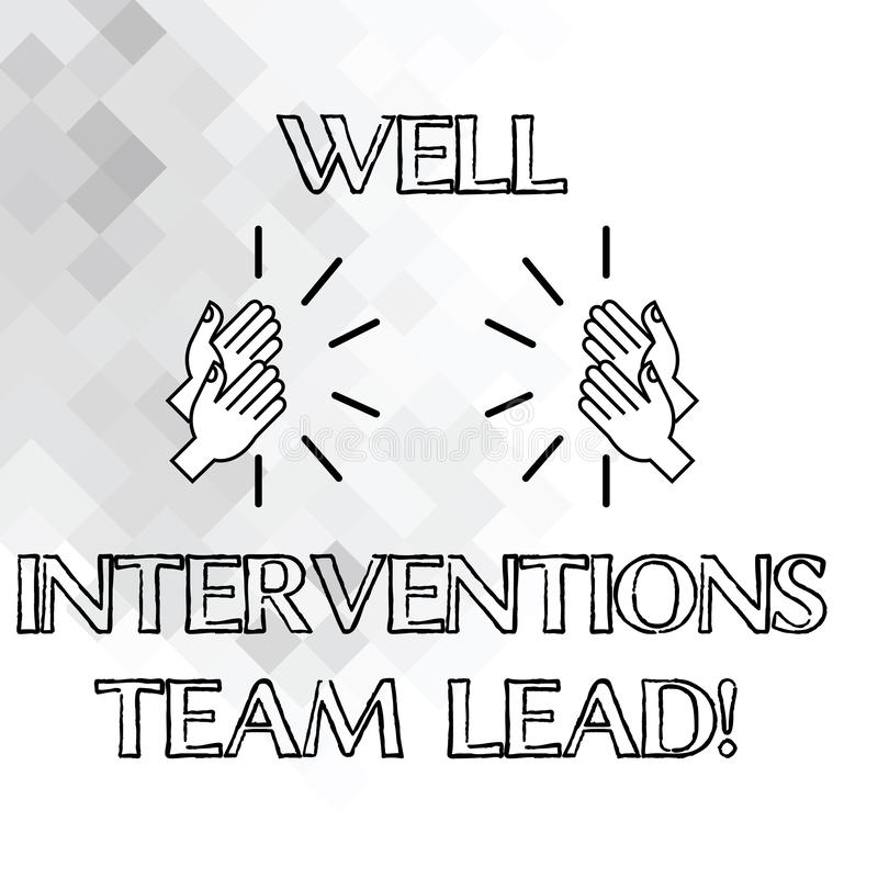 Texto de la escritura que escribe bien las intervenciones Team Lead Concepto que significa la industria petrolera del petróleo y  libre illustration