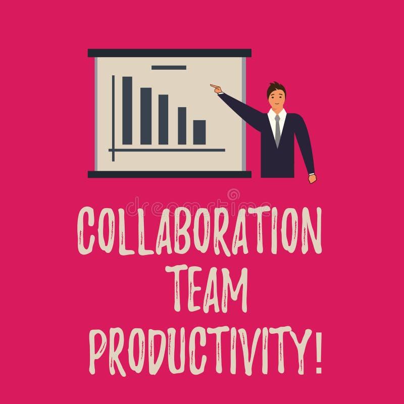 Texto de la escritura que escribe la colaboración Team Productivity El significado del concepto fijó las metas del equipo para al libre illustration