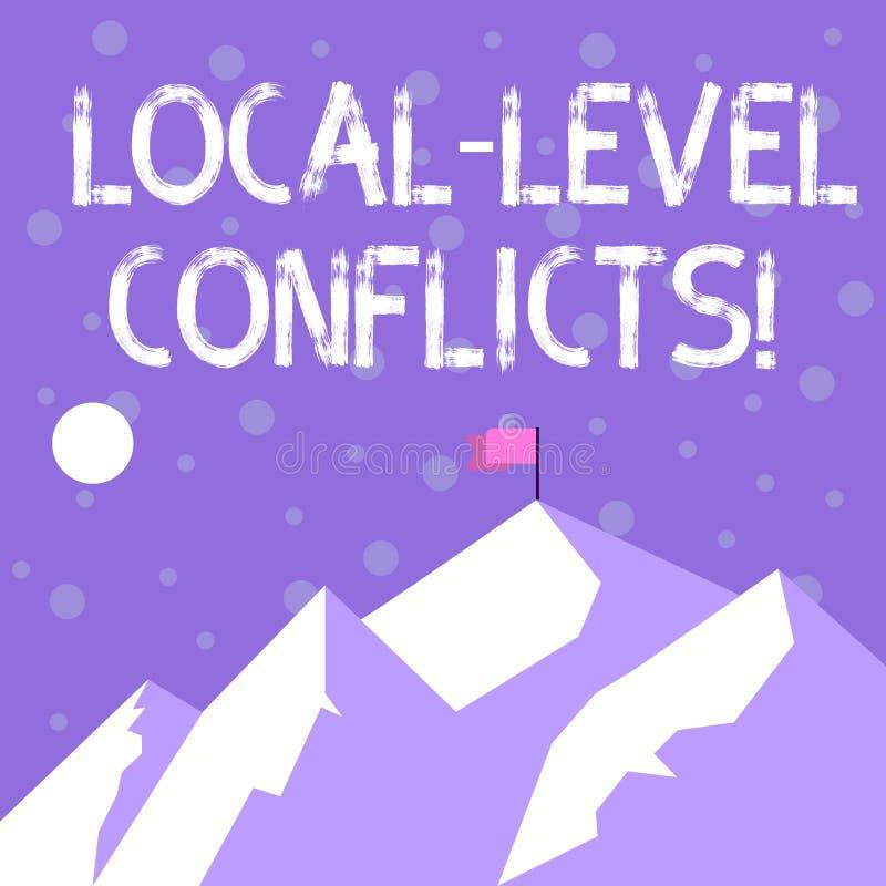 Texto de la escritura que escribe conflictos del nivel local Significado del concepto que crea incentivos locales para estropear  stock de ilustración