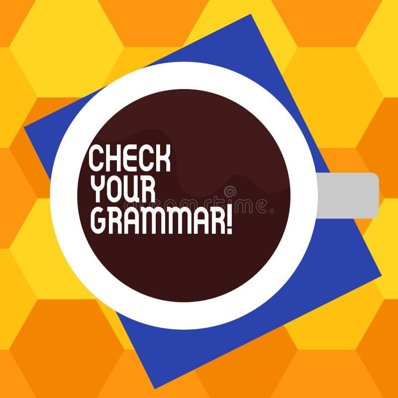 Texto de la escritura que escribe a control su gramática Puntuación de deletreo del contexto de la corrección del significado del libre illustration
