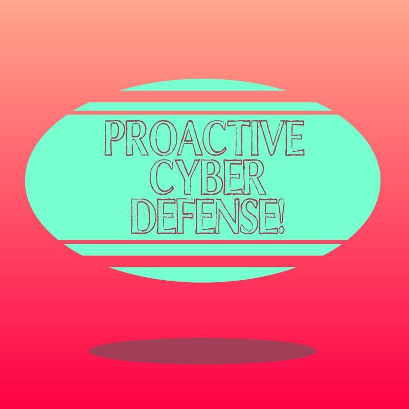 Texto de la escritura que escribe la defensa cibernética dinámica Concepto que significa la anticipación para oponerse a un ataqu libre illustration