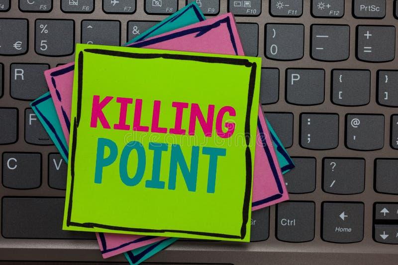 Texto de la escritura que escribe el punto de matanza La evaluación de proyecto de la puerta de la etapa del estudio del final de imagen de archivo