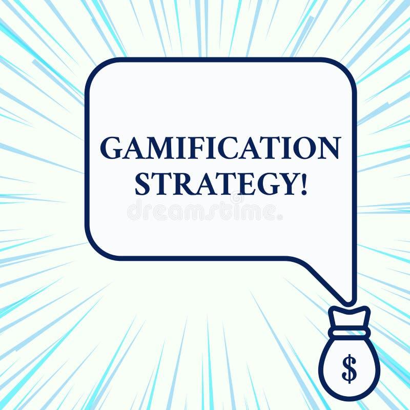 Texto de la escritura que escribe la estrategia de Gamification Las recompensas del uso del significado del concepto por la motiv libre illustration