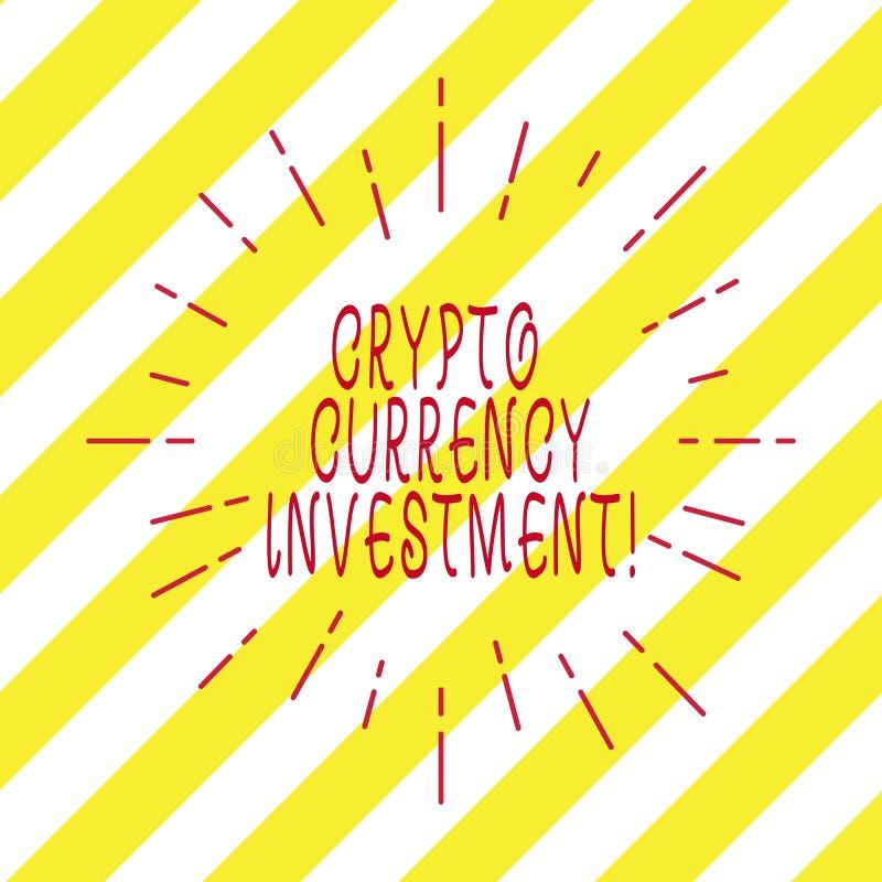 Texto de la escritura que escribe la inversión Crypto de la moneda El significado del concepto se convertirá en una tienda de con ilustración del vector