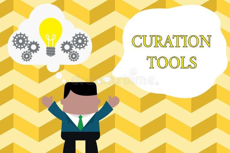 Texto de la escritura que escribe las herramientas de Curation Software del significado del concepto usado en la recopilaci?n de  libre illustration