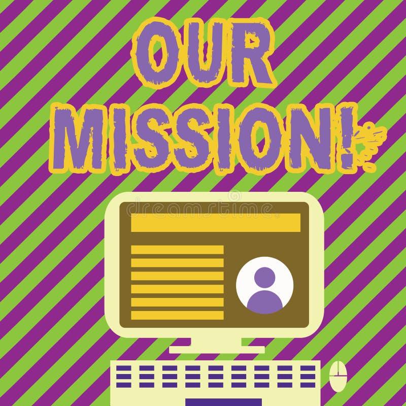Texto de la escritura que escribe nuestra misión El significado del concepto sirve como guía clara para elegir metas actuales y f libre illustration