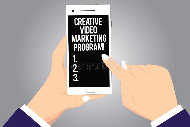 Texto de la escritura que escribe programa de comercialización video creativo Análisis publicitario moderno en línea de Hu de las stock de ilustración