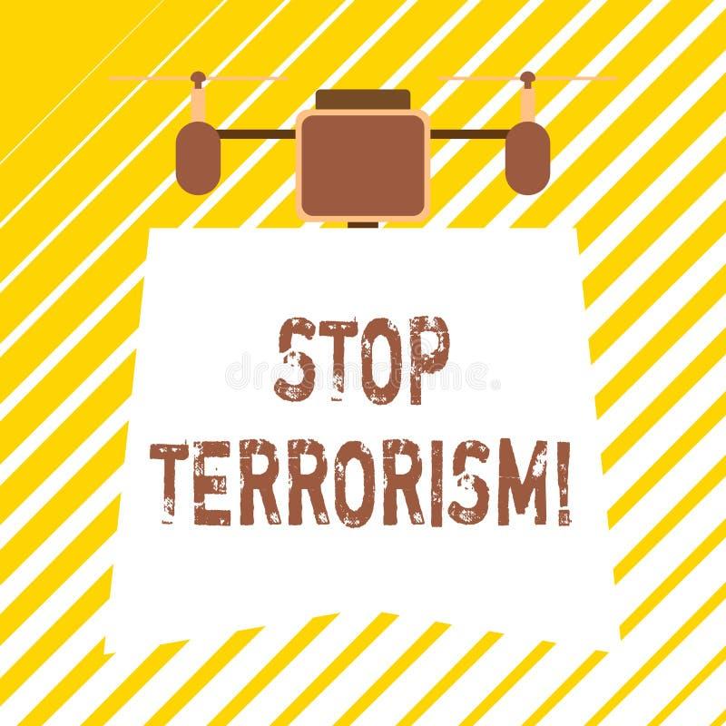 Texto de la escritura que escribe terrorismo de la parada Significado del concepto que resuelve los problemas excepcionales relac libre illustration