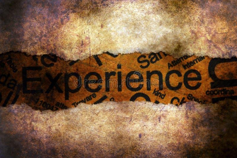 Texto de la experiencia en el papel rasgado foto de archivo