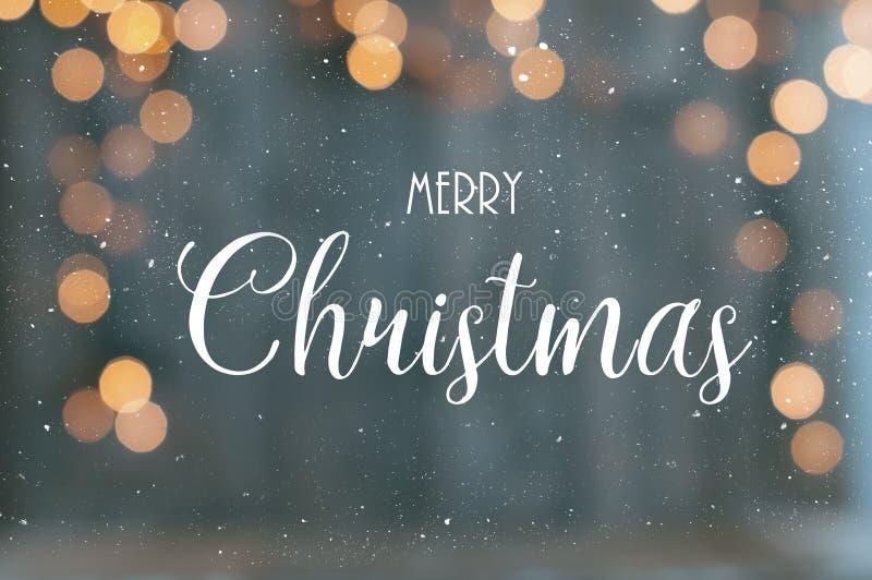Texto de la Feliz Navidad imagenes de archivo