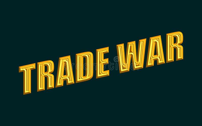 Texto de la guerra comercial libre illustration