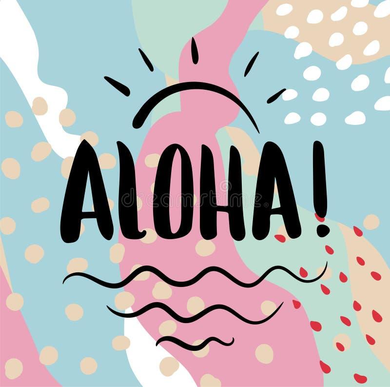 Texto de la hawaiana Caligrafía del cepillo libre illustration