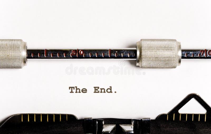 Texto de la máquina de escribir imagen de archivo libre de regalías