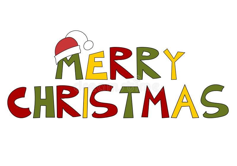 Texto de la Navidad: ¡Feliz Navidad! stock de ilustración