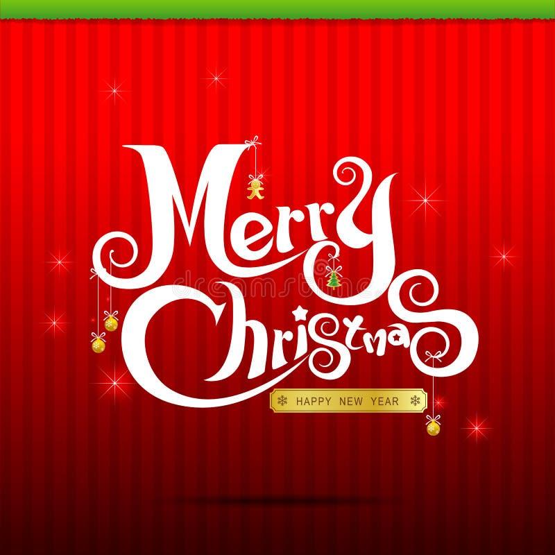 texto 004 de la Navidad 014-Merry stock de ilustración
