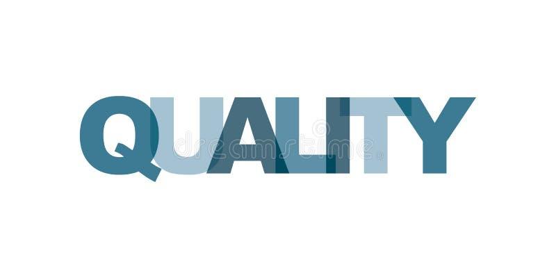Texto de la tarjeta de visita de la calidad Cartel moderno de las letras Icono del lema del arte de la palabra del color Elemento ilustración del vector