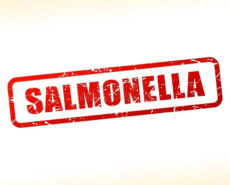 Texto de las salmonelas protegido ilustración del vector