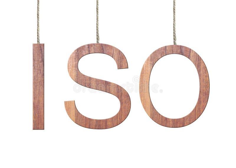 texto de madera del ISO de la organización internacional para Standardizatio imagen de archivo
