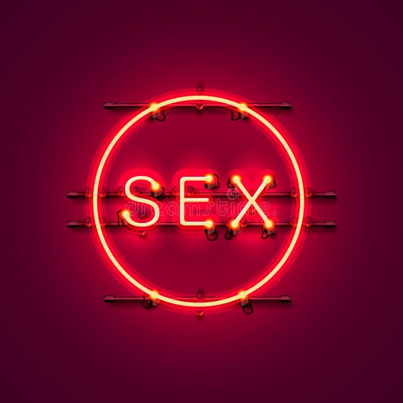 Texto de neón del sexo de la bandera libre illustration