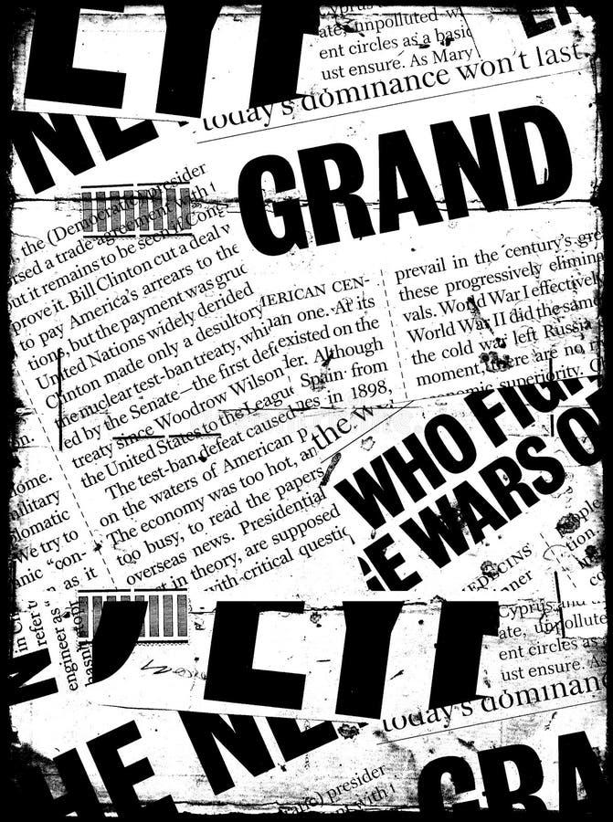 Texto de papel da notícia imagens de stock