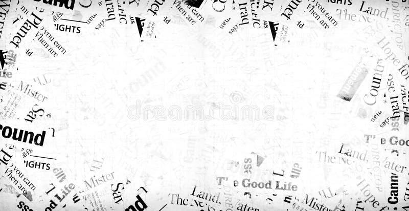 Texto de papel de las noticias fotos de archivo libres de regalías