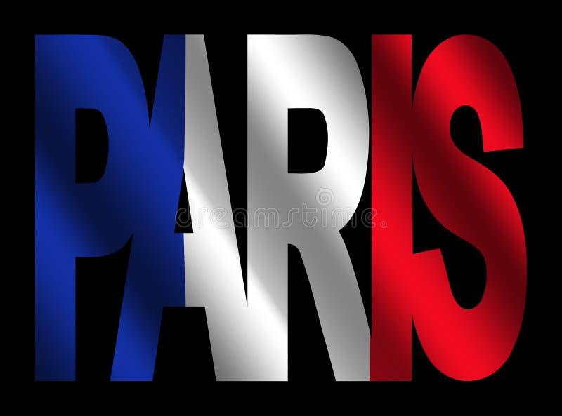 Texto de París con el indicador francés libre illustration