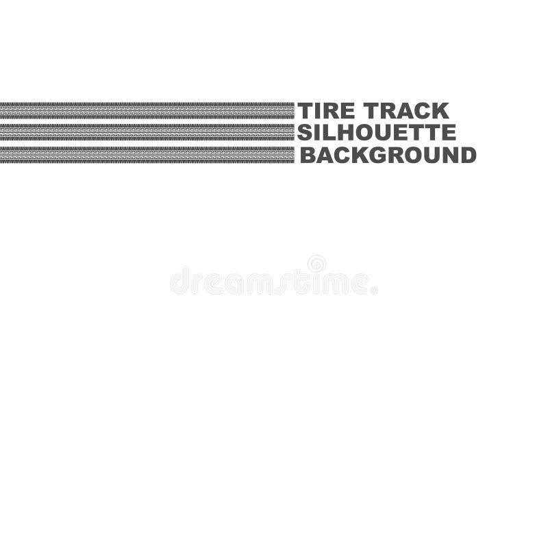 Texto de três trilhas do pneu ilustração do vetor