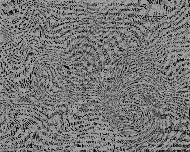 Texto deformido ilustración del vector